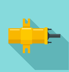 Car ignition bobbin icon flat style vector