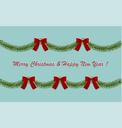 card garland for christmas vector image