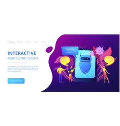 chatbot aiconcept landing page vector image