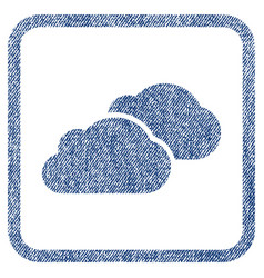Clouds fabric textured icon vector