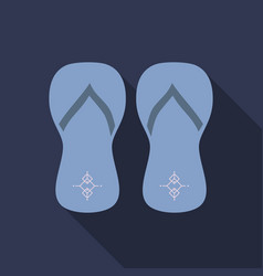Colored flipflops icon slippers icon flip flop vector