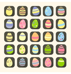 Colorful Easter eggs icons symbols vector