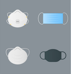 colorful medical masks -n95 surgical dust cloth vector image