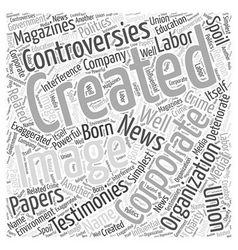 Creating a Corporate Image Word Cloud Concept vector