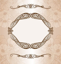Decorative background with frame vector image