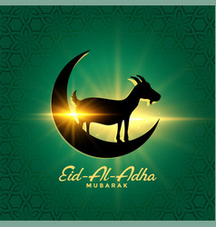 Eid al adha bakrid festival wishes beautiful vector