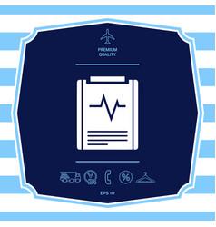 Electrocardiogram symbol icon graphic elements vector