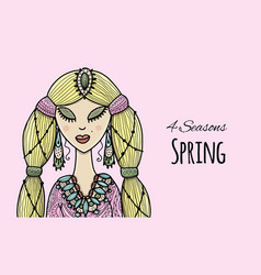 female beauty spring style for your design vector image