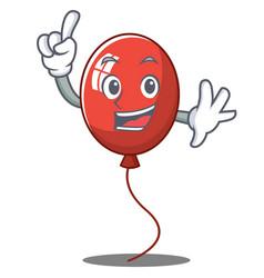 Finger balloon character cartoon style vector