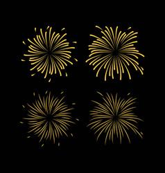 fireworks template design vector image
