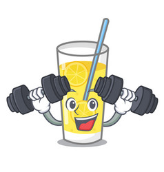 Fitness lemonade character cartoon style vector