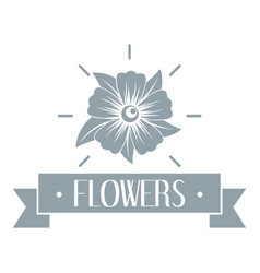flower garden logo simple gray style vector image