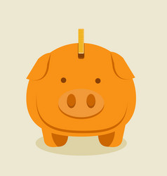Gold piggybank cartoon vector