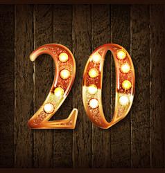 Golden number 20 vector