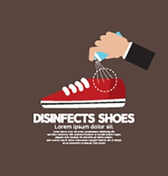 Hand Spraying Disinfects Can To The Shoes vector
