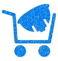 Helmet Shopping Grainy Texture Icon vector