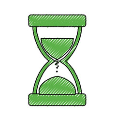 Hourglass time instrument vector