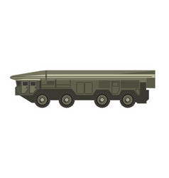 Huge military vehicle with armored corpus isolated vector