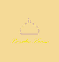 Icon in a flat style ramadan logo vector