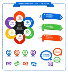 Info graphic flat design vector image