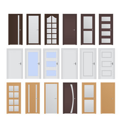 interior doors collection of designs vector image