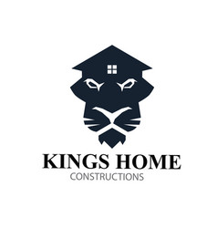 kings home lions real estate logo designs vector image