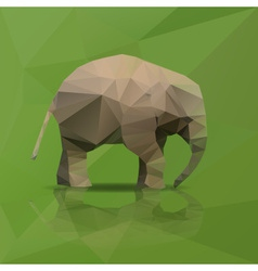 Little elephant from triangles walking eps10 vector