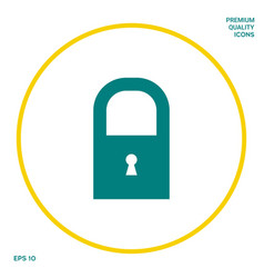 lock symbol icon graphic elements for your design vector image