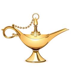 Magic golden lamp vector