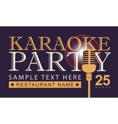 Microphone for karaoke parties vector