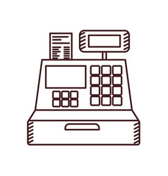 Monochrome silhouette of cash register vector