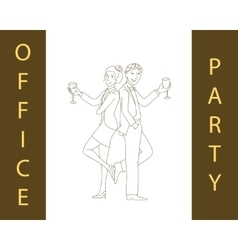 Office party concept vector