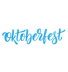 oktoberfest lettering logo design for german beer vector image