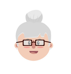 old woman face with hairstyle vector image