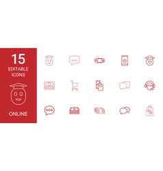 online icons vector image