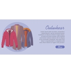 Outerwear Web Banner Winter Collection for Man vector