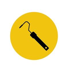 Paint roller holder vector