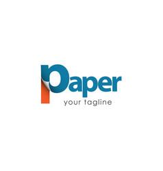 Paper logo template design vector