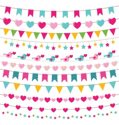 Party bunting set vector
