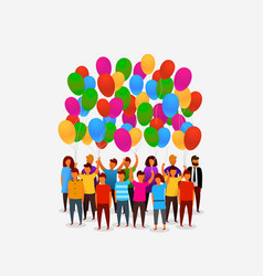 people birthday balloons vector image