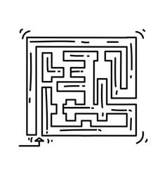playground kids mazeplayingchildrenkindergarten vector image