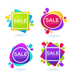 promotional sale collection of bright discount vector image