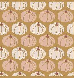 Pumpkins seamless pattern pumpkins pink vector