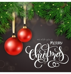 realistic of christmas vector image