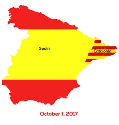 Referendum spain - catalonia vector