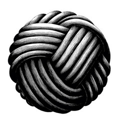 rope knot sphere hand draw vintage clip art vector image