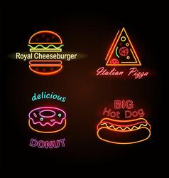 Royal cheeseburger and donut vector