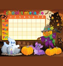 School timetable topic image 2 vector