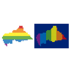 spectrum pixel dotted central african republic map vector image
