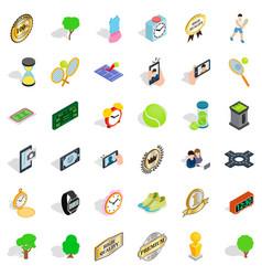 Sport icons set isometric style vector